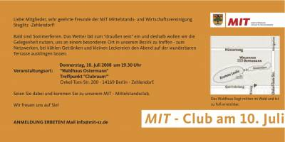 MITtelstands-Club 10.07.08 - MITtelstands-Club 10.07.08